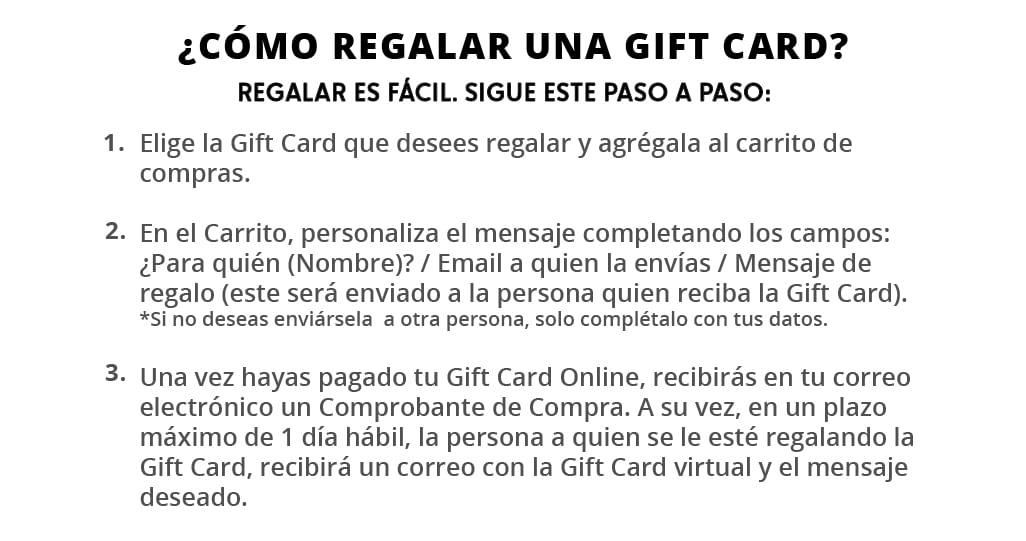 pasos para regalar una gift card